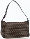 Luxury Accessories:Bags, Fendi Classic Monogram Zucca Canvas Shoulder Bag. ...