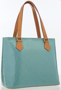Luxury Accessories:Bags, Louis Vuitton Blue Ciel Monogram Vernis Leather Houston Tote. ...