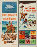 "Movie Posters:Adventure, South Sea Woman & Others Lot (Warner Brothers, 1953). Inserts(2) (14"" X 36"") & One Sheets (9) (27"" X 39.5"" & 27"" X 41"").Ad... (Total: 11 Items)"