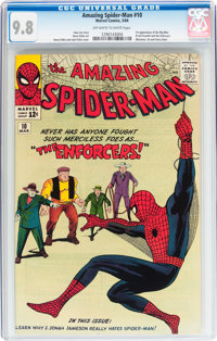 The Amazing Spider-Man #10 (Marvel, 1964) CGC NM/MT 9.8 Off-white to white pages