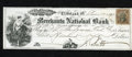 Obsoletes By State:Ohio, Cleveland, OH- Merchants National Bank $500 Check June 17, 1862.This About Uncirculated, CC check has a 2¢ revenue stam...