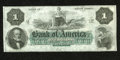 Obsoletes By State:Rhode Island, Providence, RI- Bank of America $1 18__. The National Bank Note Company printed this quality remainder that carries plate le...