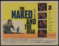 "Movie Posters:War, The Naked and The Dead (Warner Brothers, 1958). Half Sheet (22"" X28""). War. ..."