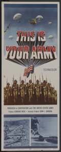 """Movie Posters:War, This is Your Army (20th Century Fox, 1954). Insert (14"""" X 36"""").War. ..."""