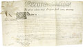 "Autographs:Statesmen, Thomas Mifflin Partly Printed Document Signed ""Tho Mifflin""as Governor of Pennsylvania, one page, 21"" x 11.5"". [Pennsyl...(Total: 1 Item)"