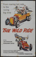 """Movie Posters:Crime, The Wild Ride (Filmgroup, Inc., 1960). One Sheet (27"""" X 41"""").Crime. ..."""