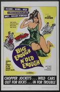 "Movie Posters:Action, Big Enough N' Old Enough (Trans-International, 1968). One Sheet (27"" X 41""). Action. ..."