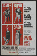 "Movie Posters:James Bond, From Russia with Love (United Artists, 1964). One Sheet (27"" X 41"")Style B. James Bond. ..."