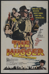"""The Mugger (United Artists, 1958). One Sheet (27"""" X 41""""). Crime. ... (Total: 1 Clips Item)"""