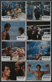 """Rocky III (United Artists, 1982). Lobby Card Set of 8 (11"""" X 14""""). Sports. ... (Total: 8 Items)"""