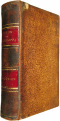 Books:First Editions, Mark Twain: Life on the Mississippi....