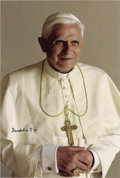 "Autographs:Non-American, Pope Benedict XVI Signed Photograph, Original 8"" x 12""photograph ofPope Benedict XVI by Arturo Mari, the Official Vatican p... (Total:1 Item)"