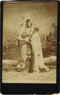 Photography:CDVs, CARTE DE VISITE OF IRON SCARE, BLACKFEET SIOUX CHIEF. Photographer unknown. Mah-Zah-Wah-Nah-Pa-Ah, also known as I... (Total: 1 Item)