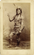 Photography:Cabinet Photos, CHIRICAHUA APACHE INDIAN SCOUT IMPERIAL SIZE CABINET CARD circa1880's. Imperial size studio cabinet card of this Apache Chi...(Total: 1 Item)