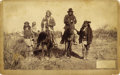 Photography:Official Photos, GERONIMO & NAICHE ON HORSE BACK, C.S. FLY, TOMBSTONE, ARIZONA TERRITORY, CABINET CARD ca. 1886. Photographed by noted Indian...