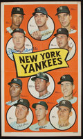Baseball Collectibles:Photos, 1969 Mickey Mantle Signed Topps Poster....