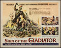 "Movie Posters:Adventure, Sign of the Gladiator & Other Lot (American International,1959). Half Sheet (22"" X 28"") & One Sheet (27"" X 41"").Adventure.... (Total: 2 Items)"