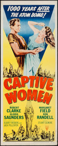 "Movie Posters:Science Fiction, Captive Women (RKO, 1952). Insert (14"" X 36""). Science Fiction....."