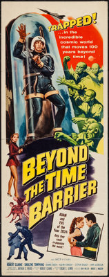 "Beyond the Time Barrier (American International, 1959). Insert (14"" X 36""). Science Fiction"