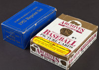 "1982 Topps ""1952 Topps"" 30th Anniversary Reprint Complete Set (402) Plus 1953 Topps Archive Wax Box"