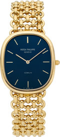Timepieces:Wristwatch, Patek Philippe Ref. 3738/6 Gold Ellipse Automatic For Gubelin,circa 1970's. ...