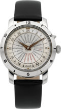"Timepieces:Wristwatch, Chs. Tissot & Fils Steel ""World Time"" Ref. 4002-2 Automatic,circa 1950. ..."