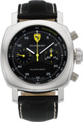 Timepieces:Wristwatch, Panerai Limited Edition Ferrari Automatic Chronograph F6656 BB 1190012. ...