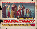 "Movie Posters:Adventure, The High and the Mighty & Other Lot (Warner Brothers, 1954).Half Sheet (22"" X 28"") & Autographed Lobby Card (11"" X 14"").Ad... (Total: 2 Items)"
