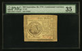 Continental Currency September 26, 1778 $50 PMG Choice Very Fine 35