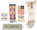 Political:Ribbons & Badges, William Jennings Bryan: Five Ribbons....