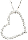 Estate Jewelry:Necklaces, Diamond, White Gold Pendant-Necklace, Bez Ambar. ...