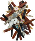 Timepieces:Other , A Box Of Miscellaneous Watch Items For Parts. ...