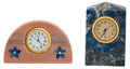 Timepieces:Clocks, Two Decorative Marble Quartz Table Clocks. ... (Total: 2 Items)