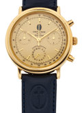 Timepieces:Wristwatch, Like New/Old Stock Grenacher Chronograph Wristwatch. ...
