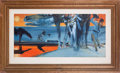 Movie/TV Memorabilia:Original Art, A John DeCuir Watercolor Painting, Circa 1950s.. ...