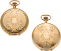 Timepieces:Pocket (post 1900), Two Unused Elgin 12 Size Hunters Cases, circa 1905. ... (Total: 2 Items)