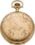 Timepieces:Pocket (post 1900), Elgin 14k Gold 12 Size Hunters Case, circa 1919. ...