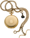 Timepieces:Pocket (post 1900), Elgin 14k Gold 16 Size With Heavy 14k Gold Chain, circa 1906. ...