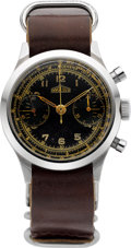 Timepieces:Wristwatch, Doxa (Angelus Dial) Vintage Steel Chronograph. ...