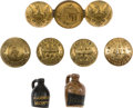Political:Ferrotypes / Photo Badges (pre-1896), Benjamin Harrison et al: Seven Buttons and Novelties....