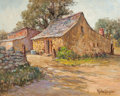 Texas:Early Texas Art - Regionalists, ROLLA SIMS TAYLOR (American, 1872-1970). The Old Stone Shed.Oil on canvas. 16 x 20 inches (40.6 x 50.8 cm). Signed lowe...