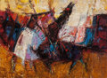 Texas:Early Texas Art - Modernists, FRED BINDER SAMUELSON (American, b. 1925). Picador. Oil oncanvas laid on panel. 12 x 16 inches (30.5 x 40.6 cm). Signed...