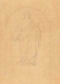 Texas:Early Texas Art - Pre-1900, CARL HERMANN FREDERICK LUNGKWITZ (German, 1813-1891). Study ofChrist, circa 1840s. Pencil on paper. 7 x 5 inches (17.8 ...(Total: 2 )