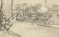 Works on Paper, JULIAN ONDERDONK (American, 1882-1922). From Nature, 1915. Pencil on paper. 5-1/2 x 8-1/2 inches (14.0 x 21.6 cm) (sheet...