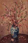 Texas:Early Texas Art - Impressionists, ELEANOR ROGERS ONDERDONK (American, 1886-1986). Flowers in aBlue Vase. Oil on canvas. 30 x 22 inches (76.2 x 55.9 cm). ...