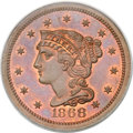 Patterns, 1868 10C Ten Cents, Judd-648, Pollock-721, High R.6, PR65 Red and Brown PCGS....