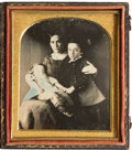 Photography:Daguerreotypes, Early Photography: Exceptional Post Mortem Daguerreotype. ...