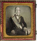 Photography:Daguerreotypes, Early Photography: Political Parade Marcher Daguerreotype....