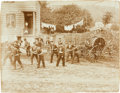 Photography:Cabinet Photos, Early Photography: Drilling Firemen with Antiquated Equipment....