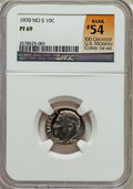 Proof Roosevelt Dimes: , 1970 10C No S PR69 NGC. Rank #54 of the 100 Greatest U.S. ModernCoins; First Edition. NGC Census: (16/0). PCGS Population ...